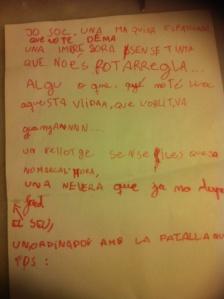 Letra original de Màquina Espatllada